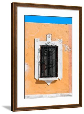?Viva Mexico! Collection - Orange Window - Campeche-Philippe Hugonnard-Framed Photographic Print