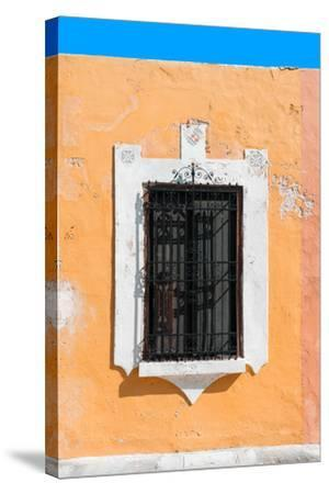 ?Viva Mexico! Collection - Orange Window - Campeche-Philippe Hugonnard-Stretched Canvas Print