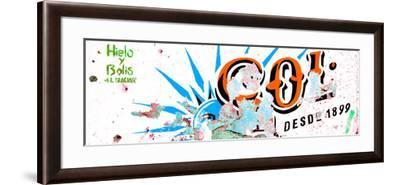 ¡Viva Mexico! Panoramic Collection - Orange SOL Sign Street Wall-Philippe Hugonnard-Framed Photographic Print