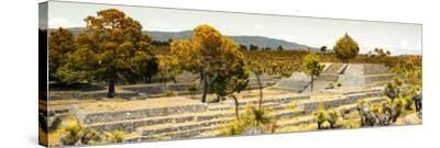 ¡Viva Mexico! Panoramic Collection - Pyramid of Cantona - Puebla II-Philippe Hugonnard-Stretched Canvas Print
