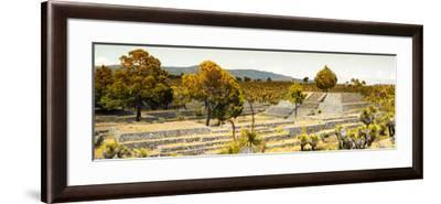 ¡Viva Mexico! Panoramic Collection - Pyramid of Cantona - Puebla II-Philippe Hugonnard-Framed Photographic Print