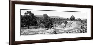 ¡Viva Mexico! Panoramic Collection - Pyramid of Cantona - Puebla III-Philippe Hugonnard-Framed Photographic Print