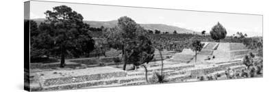 ¡Viva Mexico! Panoramic Collection - Pyramid of Cantona - Puebla III-Philippe Hugonnard-Stretched Canvas Print