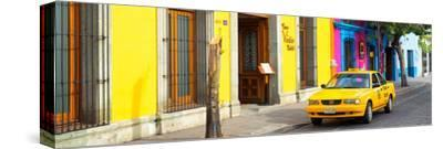 ¡Viva Mexico! Panoramic Collection - Colorful Street in Oaxaca VIII-Philippe Hugonnard-Stretched Canvas Print