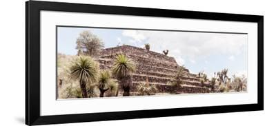 ¡Viva Mexico! Panoramic Collection - Pyramid of Cantona Archaeological Site VII-Philippe Hugonnard-Framed Photographic Print