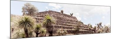 ¡Viva Mexico! Panoramic Collection - Pyramid of Cantona Archaeological Site VII-Philippe Hugonnard-Mounted Photographic Print
