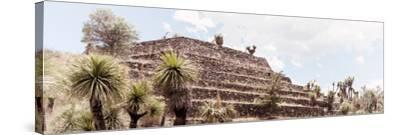¡Viva Mexico! Panoramic Collection - Pyramid of Cantona Archaeological Site VII-Philippe Hugonnard-Stretched Canvas Print