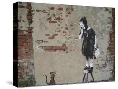 Ratgirl-Banksy-Stretched Canvas Print