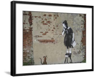 Ratgirl-Banksy-Framed Giclee Print