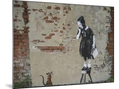 Ratgirl-Banksy-Mounted Giclee Print