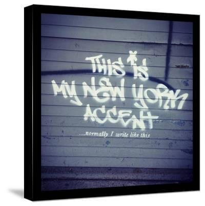 My New York Min-Banksy-Stretched Canvas Print
