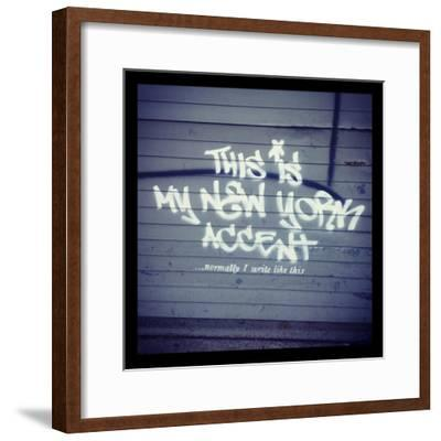My New York Min-Banksy-Framed Giclee Print