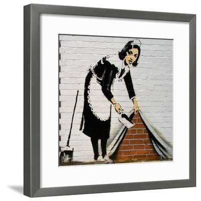 Maid-Banksy-Framed Giclee Print