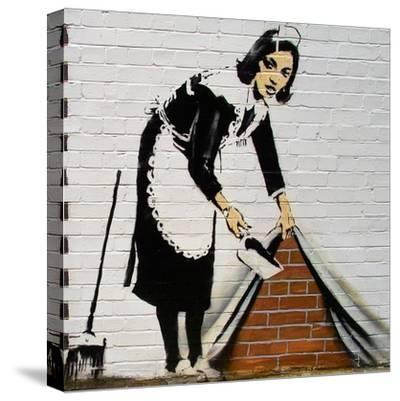 Maid-Banksy-Stretched Canvas Print