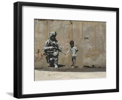 Peace-Banksy-Framed Premium Giclee Print