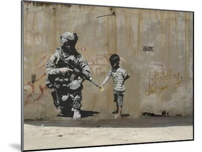 Peace-Banksy-Mounted Premium Giclee Print