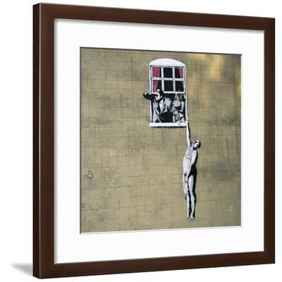 Scandal-Banksy-Framed Giclee Print