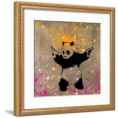 Panda with Guns-Banksy-Framed Giclee Print