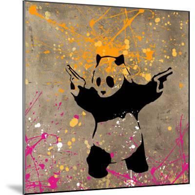 Panda with Guns-Banksy-Mounted Giclee Print