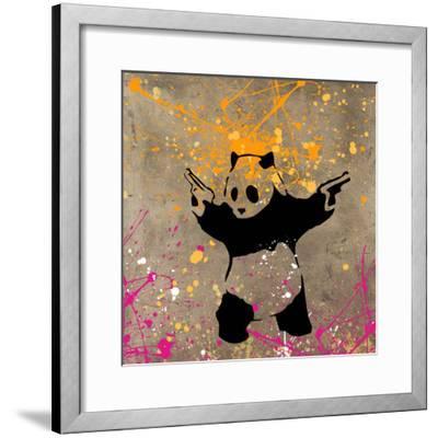 Panda with Guns-Banksy-Framed Premium Giclee Print