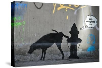 You Complete Me-Banksy-Stretched Canvas Print