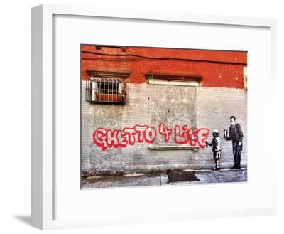 Ghetto for LIfe-Banksy-Framed Giclee Print
