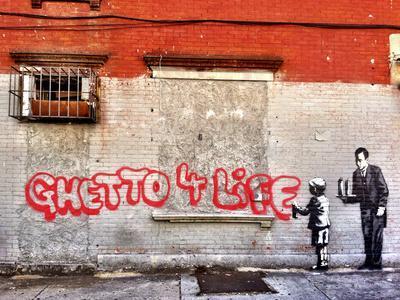Ghetto for LIfe-Banksy-Framed Premium Giclee Print