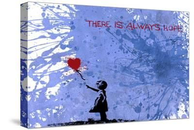 128 Balloon Girl-Banksy-Stretched Canvas Print