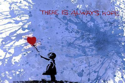128 Balloon Girl-Banksy-Framed Premium Giclee Print