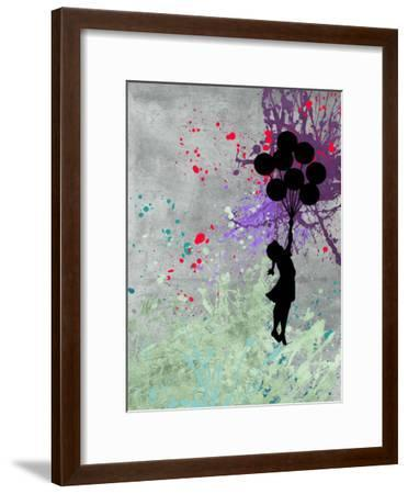 Flying Balloon Girl-Banksy-Framed Giclee Print
