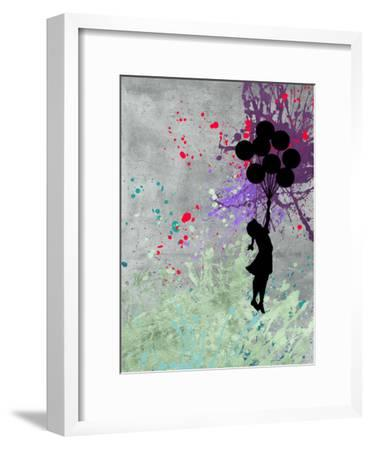 Flying Balloon Girl-Banksy-Framed Premium Giclee Print