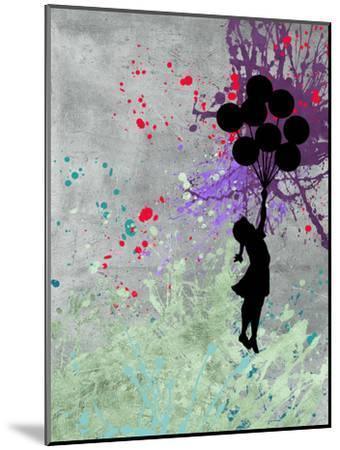 Flying Balloon Girl-Banksy-Mounted Premium Giclee Print