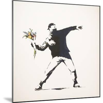 Love Is in the Air-Banksy-Mounted Giclee Print