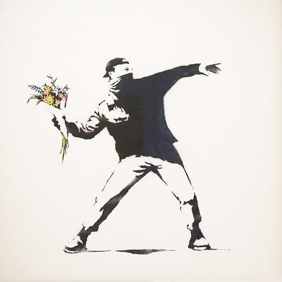Love Is in the Air-Banksy-Framed Premium Giclee Print