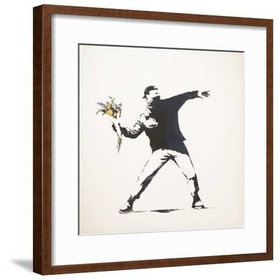 Love Is in the Air-Banksy-Framed Giclee Print