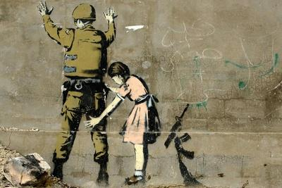 War-Banksy-Framed Premium Giclee Print