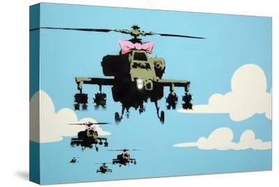 Vapor Helicopter UAV-Banksy-Stretched Canvas Print