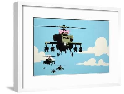 Vapor Helicopter UAV-Banksy-Framed Giclee Print
