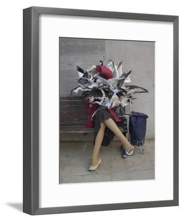 Lady of the Gulls-Banksy-Framed Giclee Print