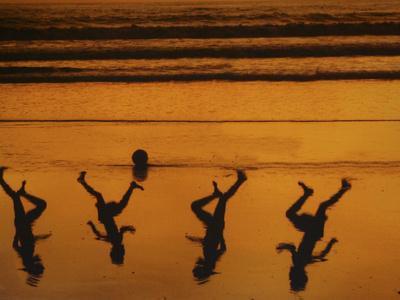 Beach Ball-Banksy-Framed Premium Giclee Print
