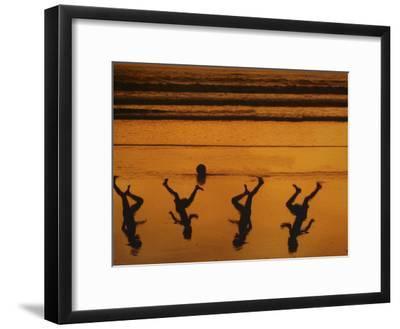 Beach Ball-Banksy-Framed Giclee Print