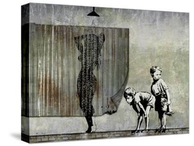 Shower Peepers-Banksy-Stretched Canvas Print