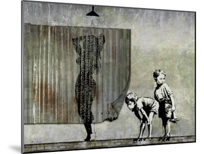 Shower Peepers-Banksy-Mounted Giclee Print