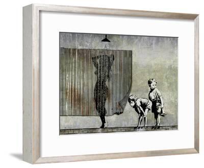 Shower Peepers-Banksy-Framed Giclee Print