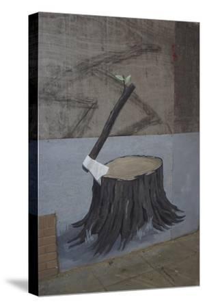 Renaissance-Banksy-Stretched Canvas Print