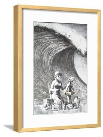 Dismal Beach-Banksy-Framed Giclee Print