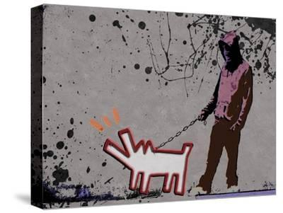 Choose the dog-Banksy-Stretched Canvas Print