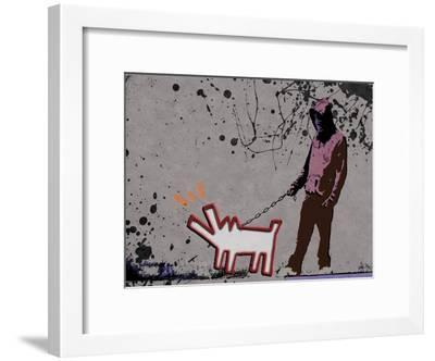 Choose the dog-Banksy-Framed Giclee Print