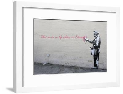 Echoes-Banksy-Framed Giclee Print