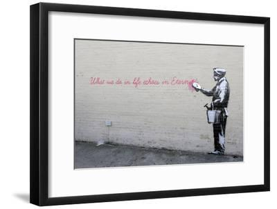 Echoes-Banksy-Framed Premium Giclee Print
